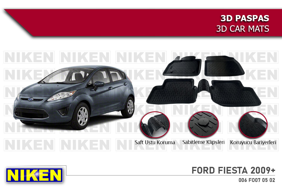 FORD FIESTA 2009- 3D PASPAS