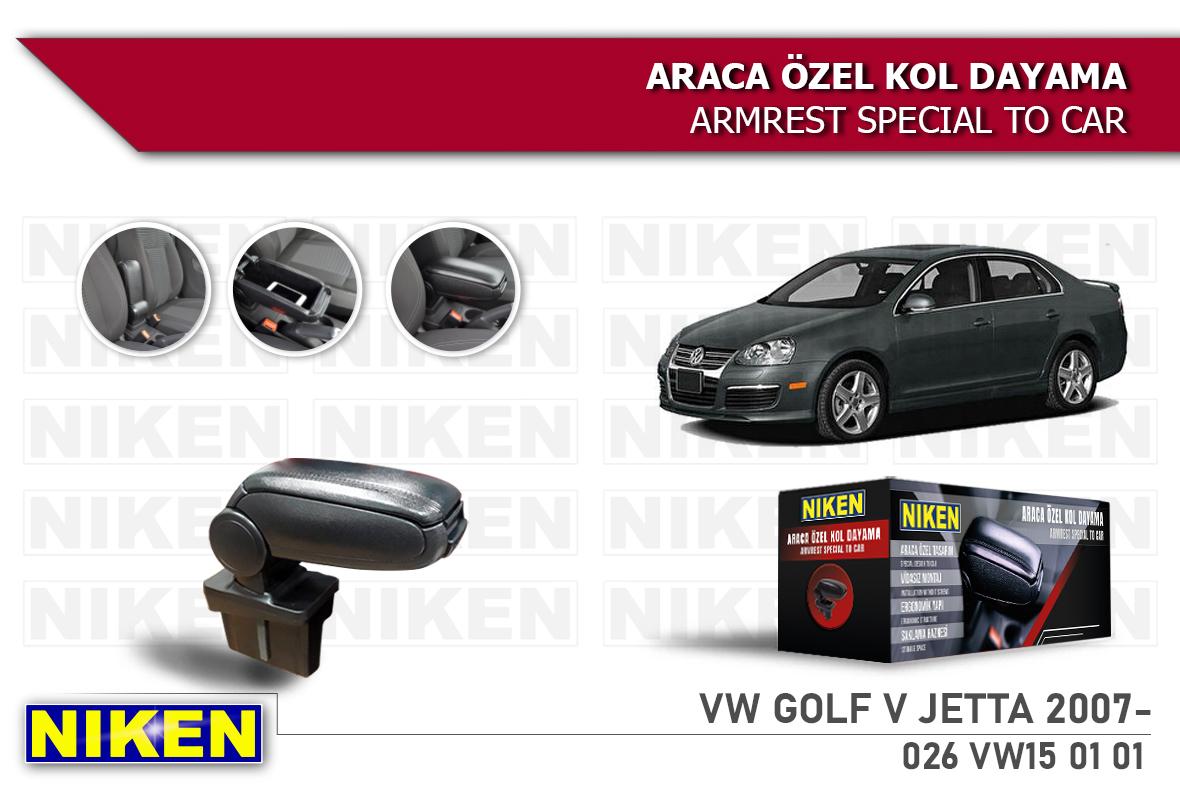 VW GOLF V -JETTA 2007- ARACA ÖZEL KOL DAYAMA SİYAH