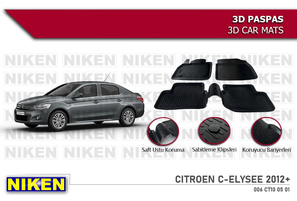 CITROEN C-ELYSEE 2012- 3D PASPAS