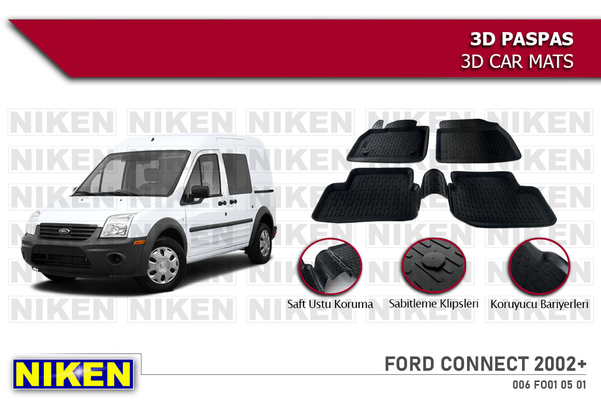 FORD CONNECT 2002- 3D PASPAS