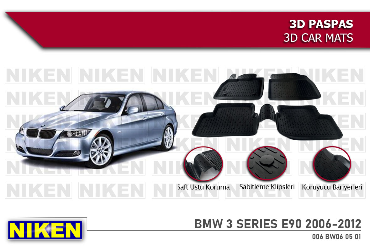 BMW 3 SERIES E90 2006-2012- 3D PASPAS
