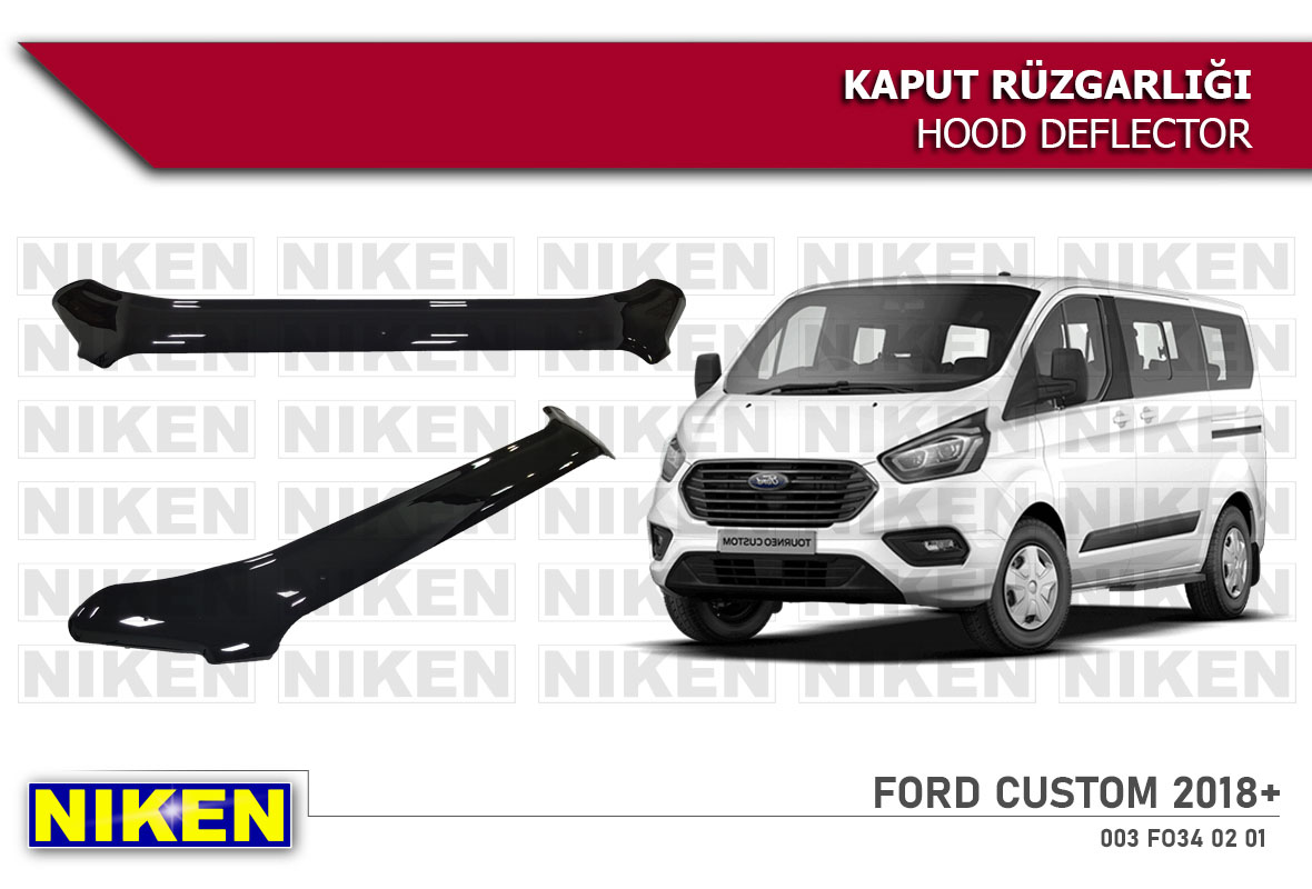 FORD CUSTOM HOOD DEFLECTOR ECO 2018-