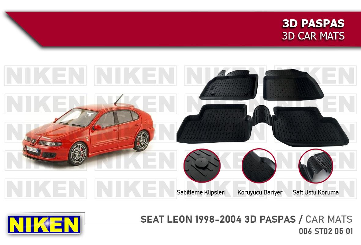SEAT LEON 1998-2004 3D CAR MATS