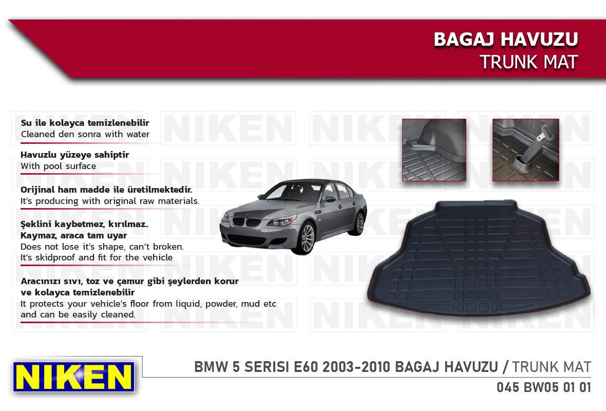 BMW 5 SERISI E60 2003-2010 BAGAJ HAVUZU