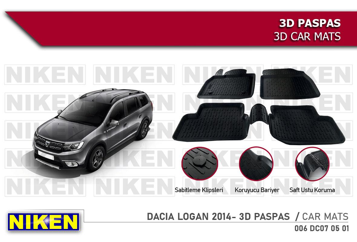 DACIA LOGAN 2014- 3D PASPAS