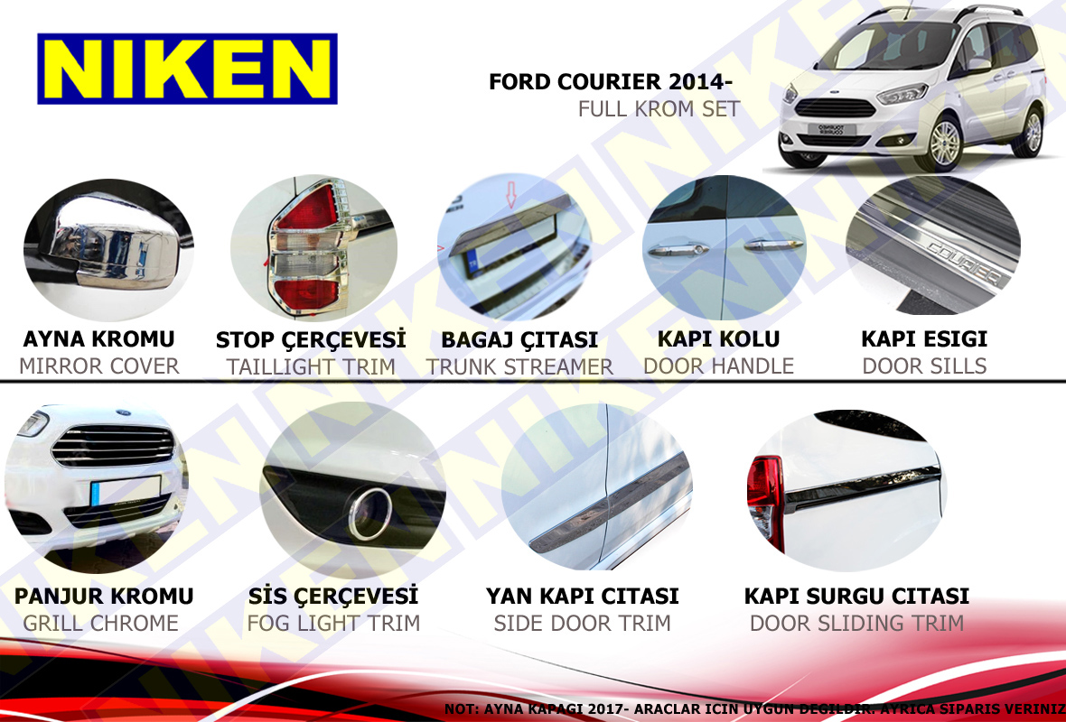 FORD COURIER FULL KROM SET (2014-)