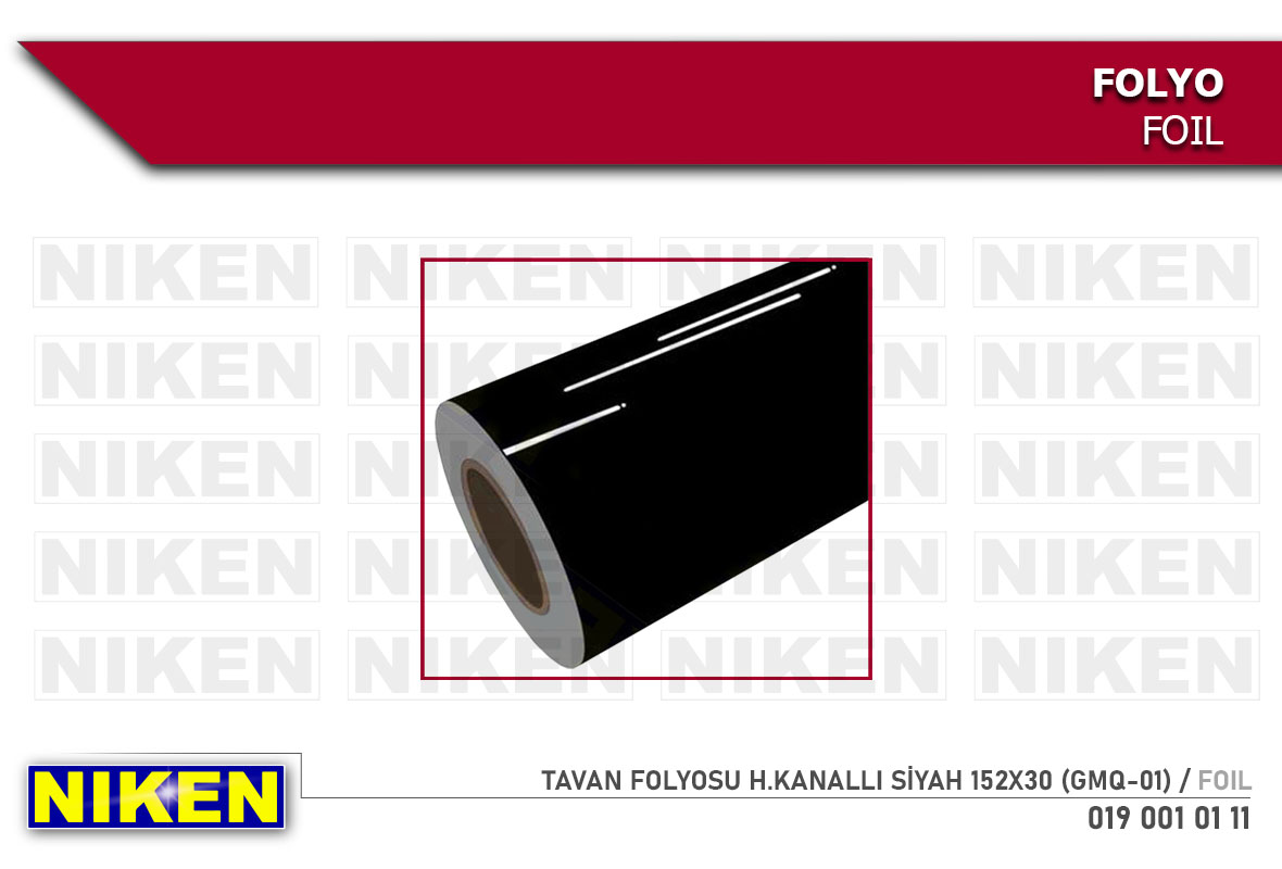 TAVAN FOLYOSU H.KANALLI SİYAH 152X30 (GMQ-01)