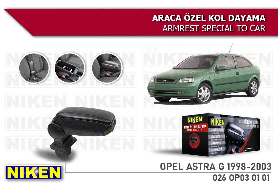 OPEL ASTRA G 1998-2003 ARACA ÖZEL KOL DAYAMA SİYAH