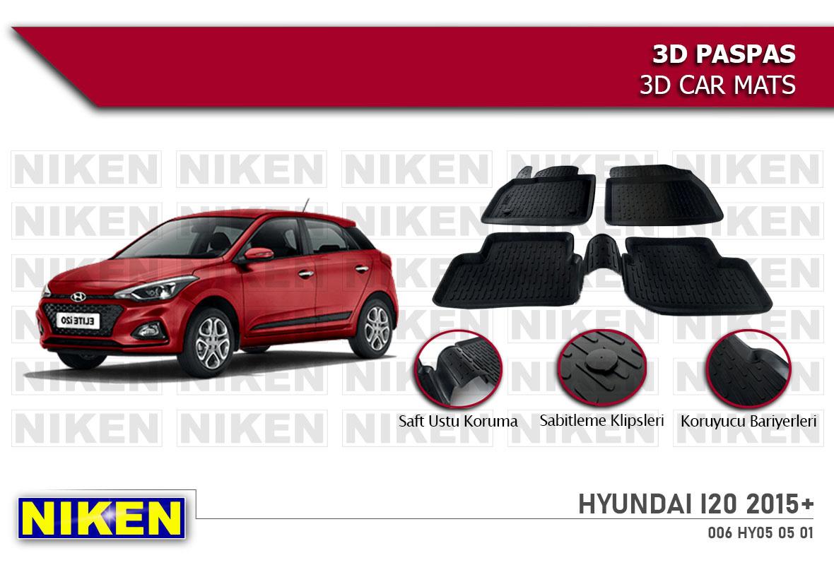 HYUNDAI I20 2015- 3D PASPAS