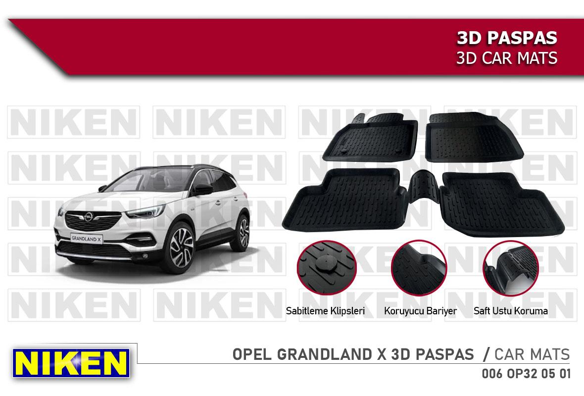 OPEL GRANDLAND X 3D CAR MATS