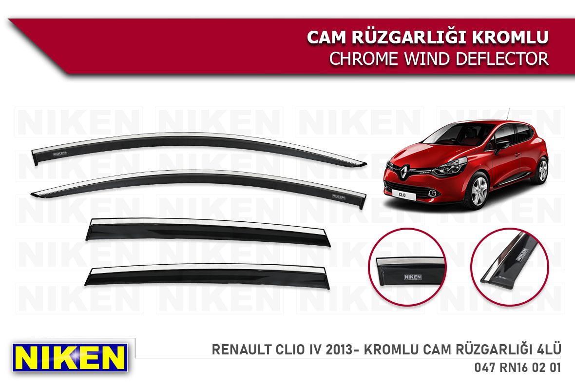 RENAULT CLIO IV 2013- KROMLU CAM RÜZGARLIĞI 4LÜ
