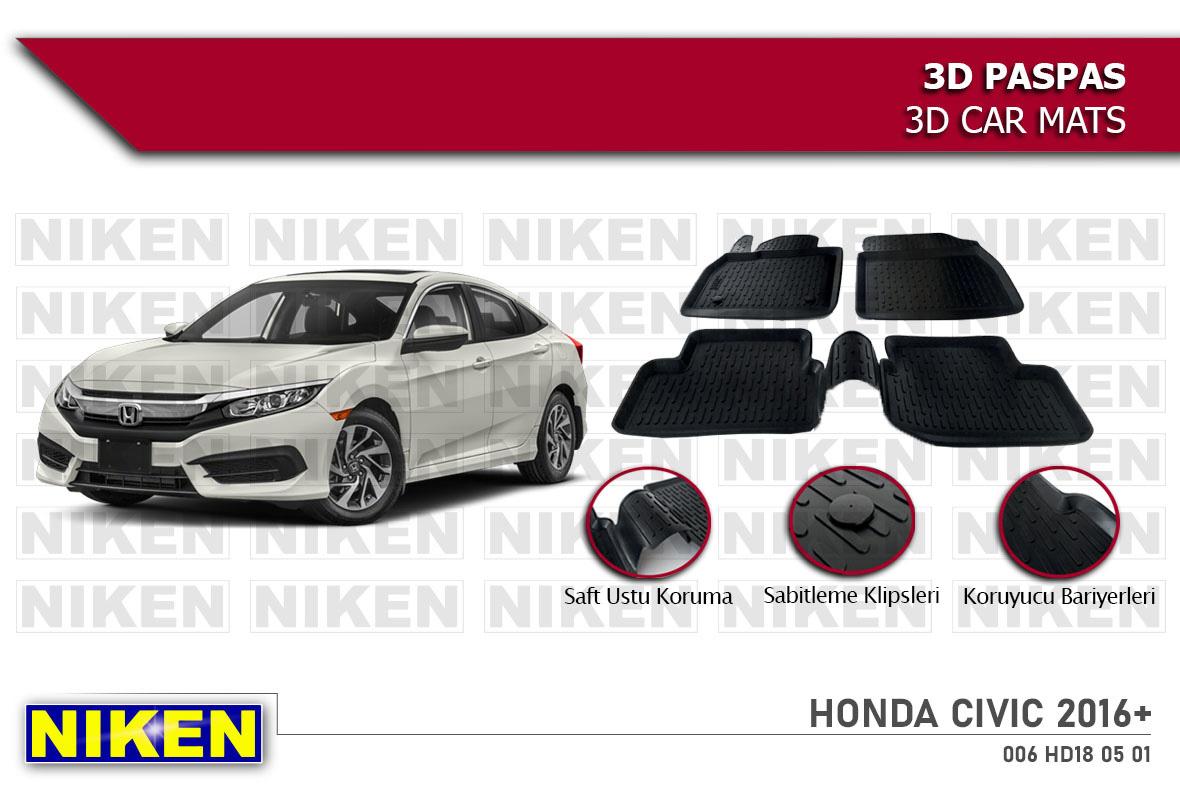 HONDA CIVIC 2016- 3D PASPAS