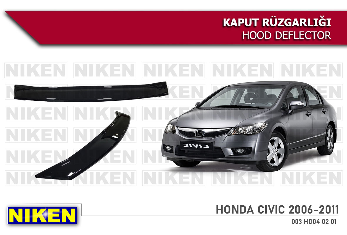 HONDA CIVIC 2006-2011 HOOD DEFLECTOR ECO