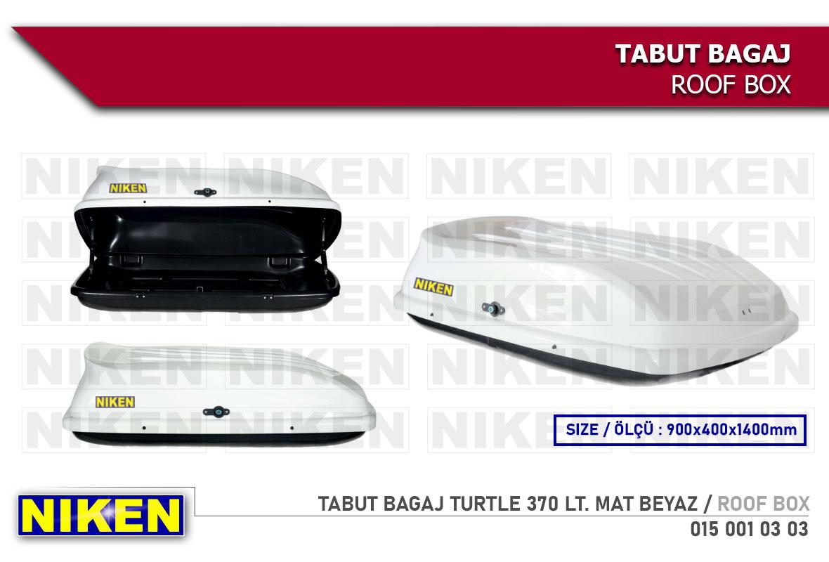TABUT BAGAJ TURTLE 370 LT. MAT BEYAZ