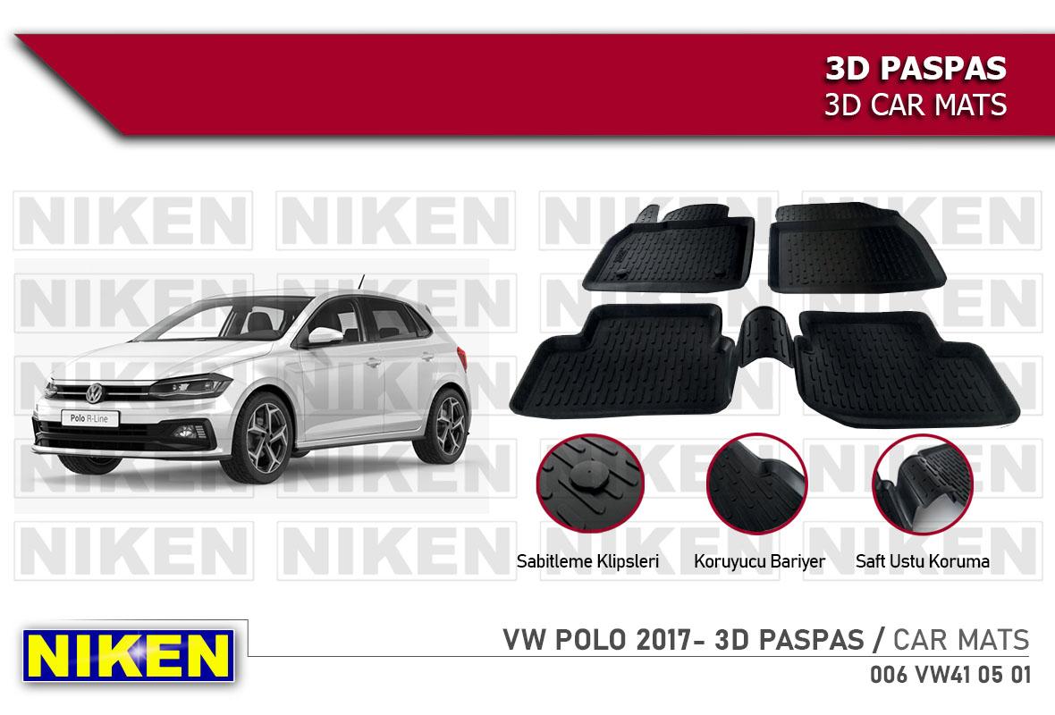 VW POLO 2017- 3D CAR MATS