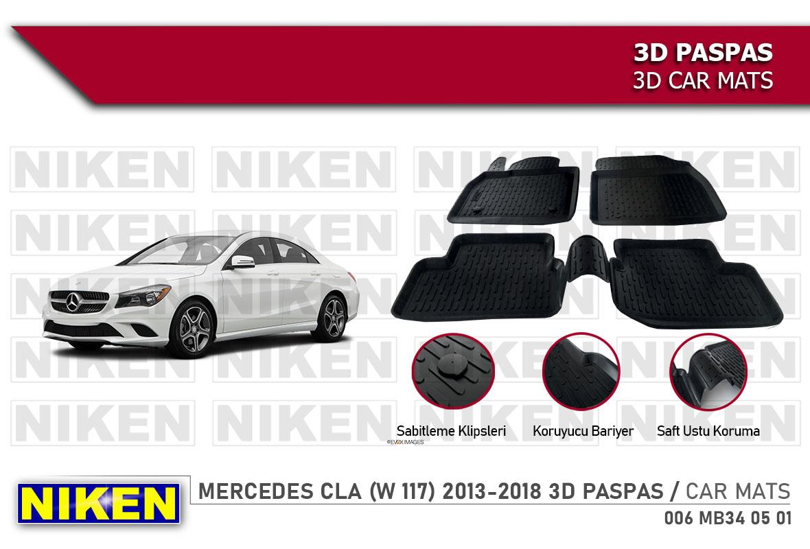 MERCEDES (W 117) CLA 2013-2018 3D CAR MATS