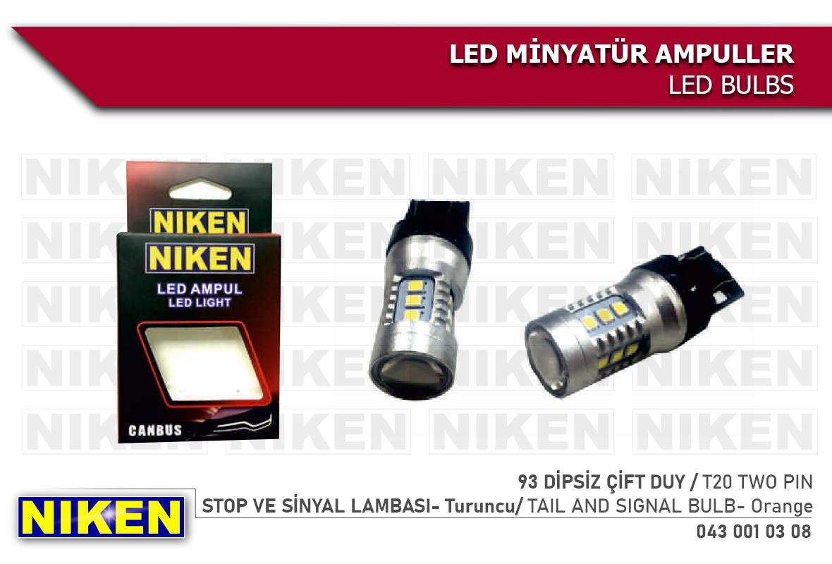 LED AMPUL 93 DİPSİZ ÇİFT DUY CANBUS LED (T20) TRNC