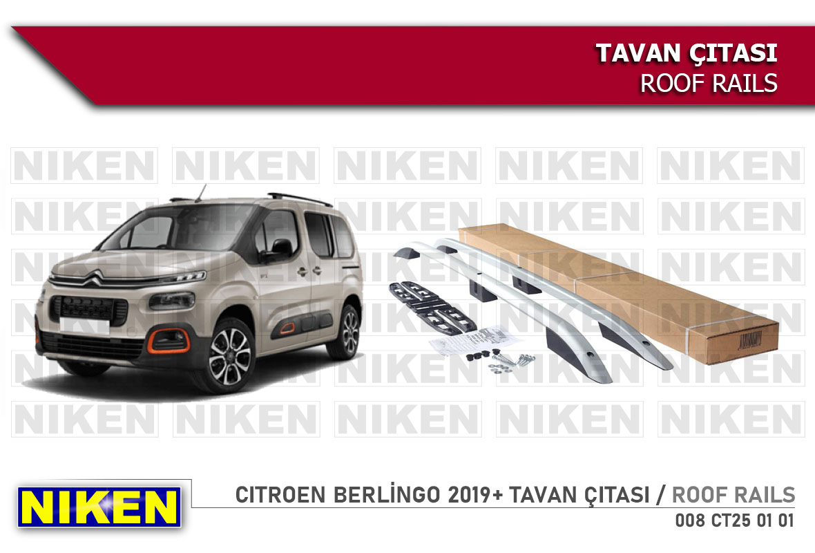 CITROEN BERLİNGO 2019-  ROOF RAILS SHORT GREY