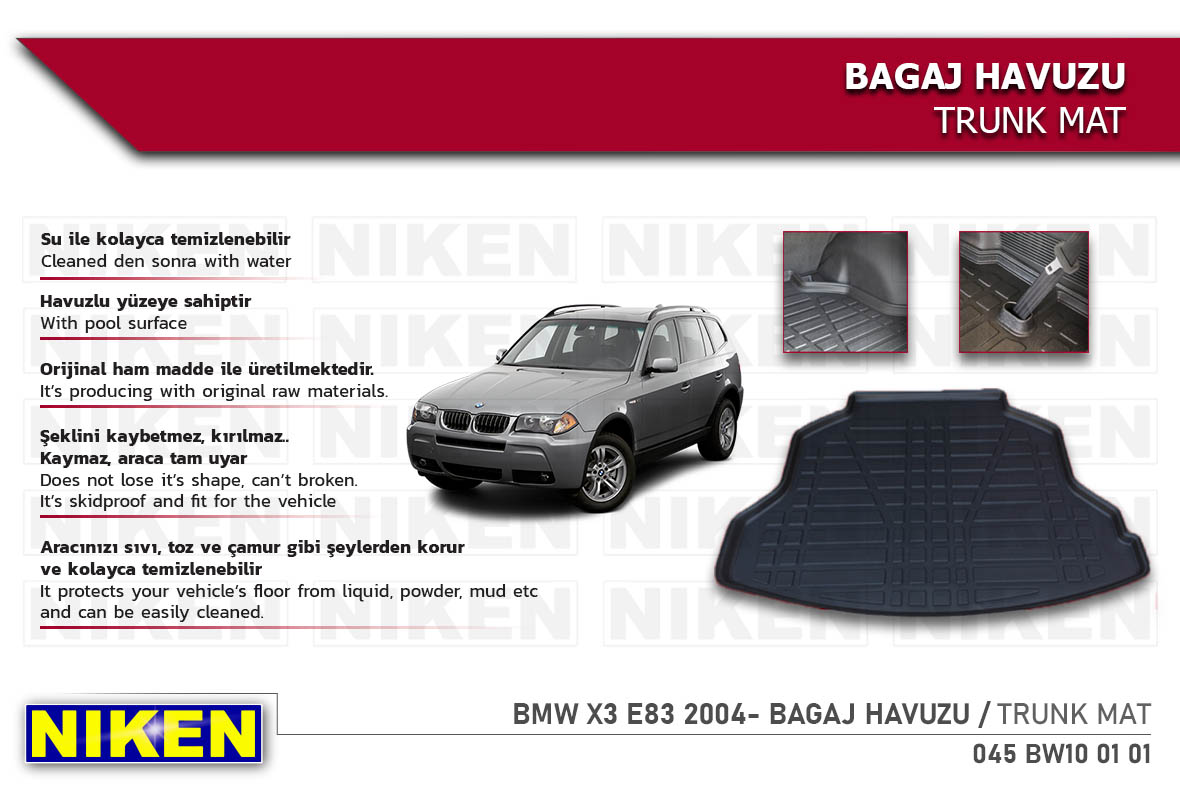 BMW X3 E83 2004- BAGAJ HAVUZU
