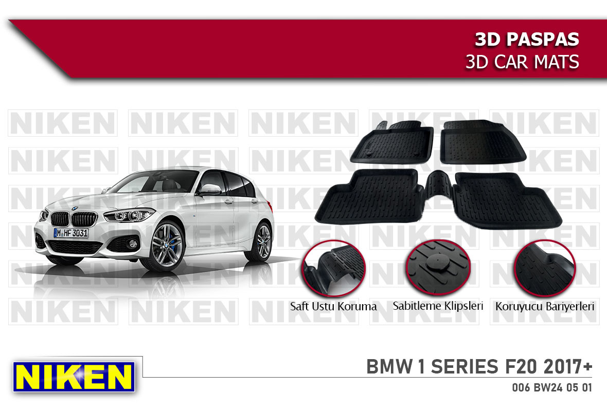 BMW 1 SERIES F20 2017- 3D PASPAS
