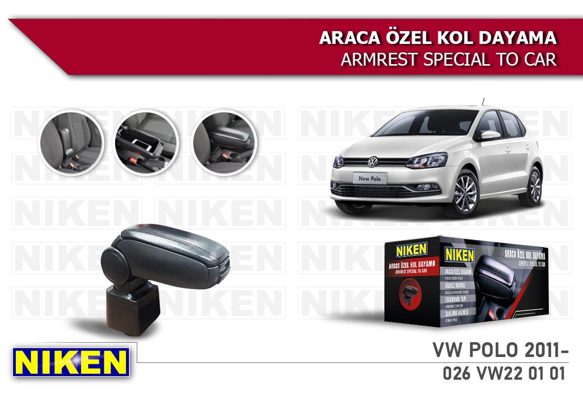 VW POLO 2011- ARACA ÖZEL KOL DAYAMA SİYAH